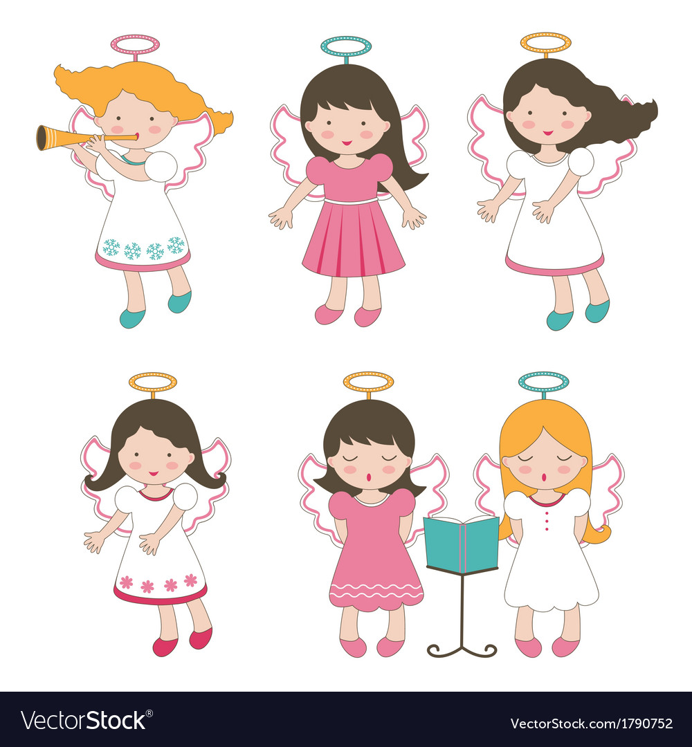 Cute little angels vector | Price: 1 Credit (USD $1)