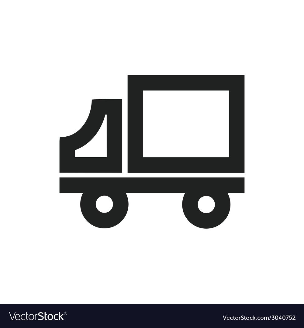 Delivery truck symbol vector | Price: 1 Credit (USD $1)