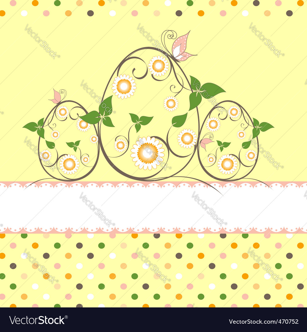 Easter greeting card vector | Price:  Credit (USD $)
