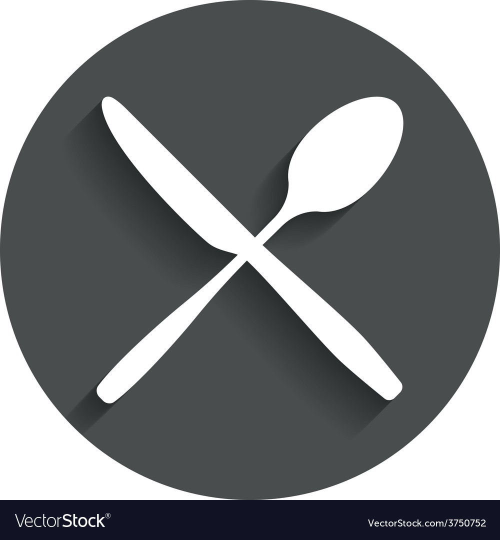 Eat sign icon cutlery symbol knife and spoon vector | Price: 1 Credit (USD $1)