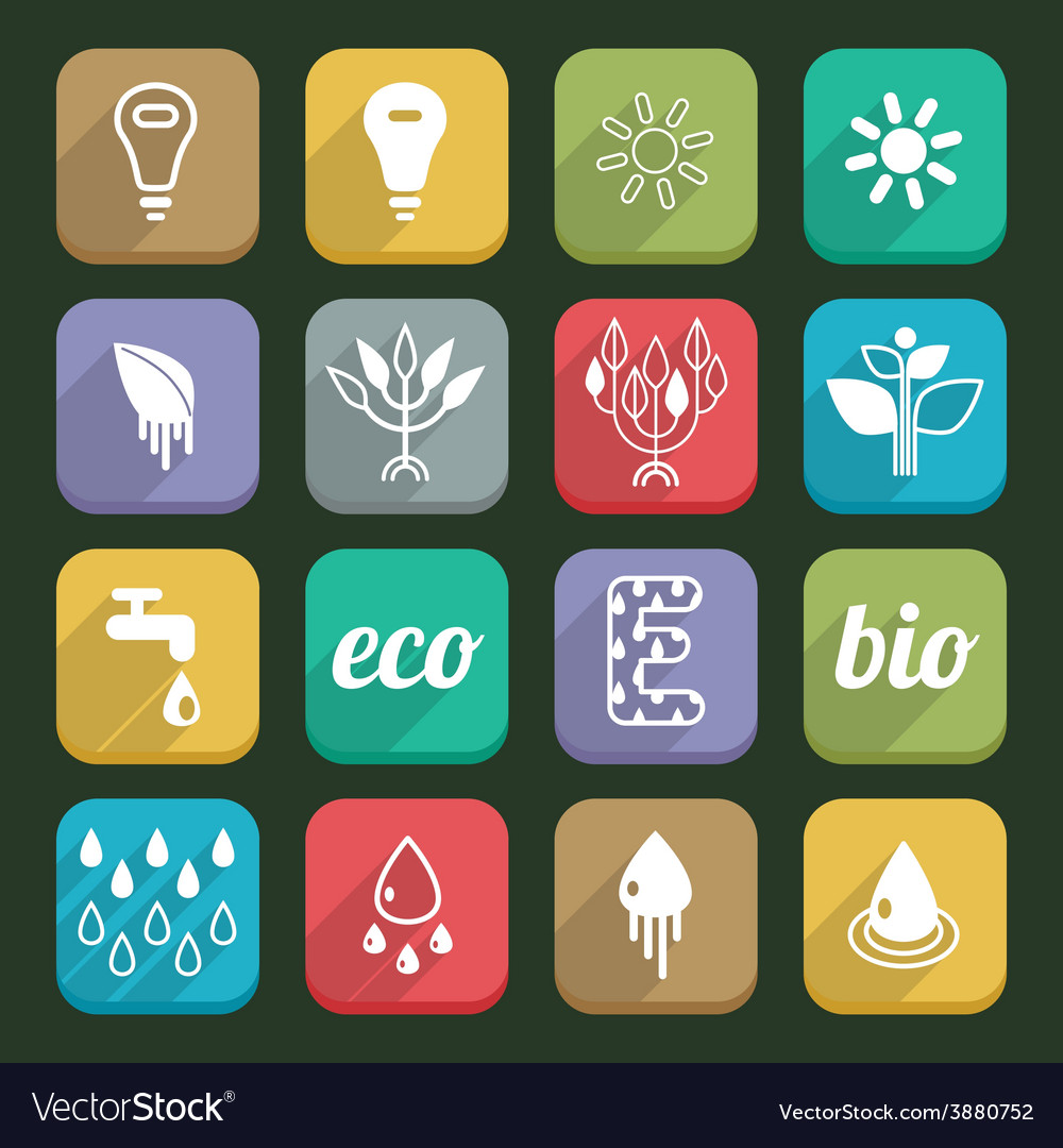 Ecology icons 04 vector | Price: 1 Credit (USD $1)