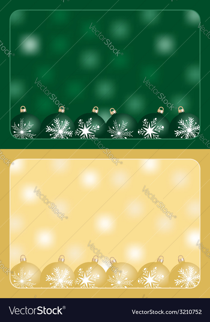 Green and gold christmas greetings vector | Price: 1 Credit (USD $1)