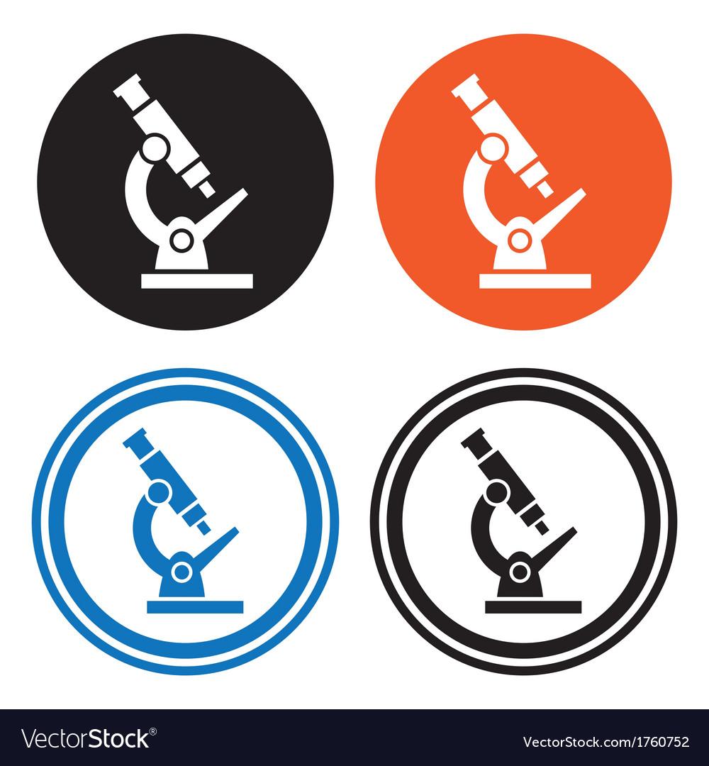 Microscope icons vector | Price: 1 Credit (USD $1)