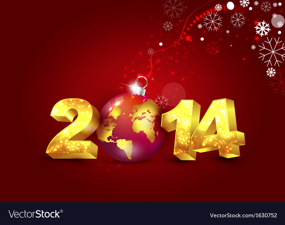 New year 2014 card vector | Price: 1 Credit (USD $1)