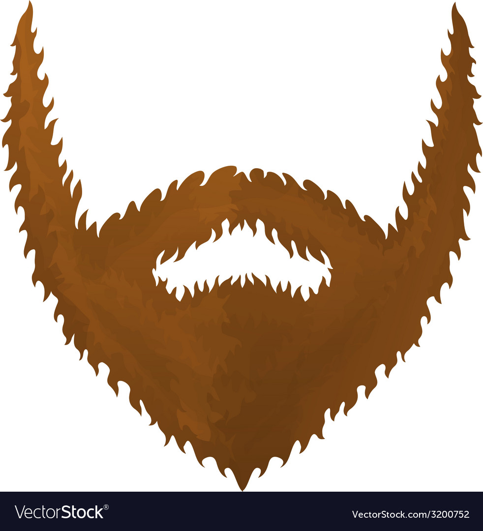 One big brown beard vector | Price: 1 Credit (USD $1)