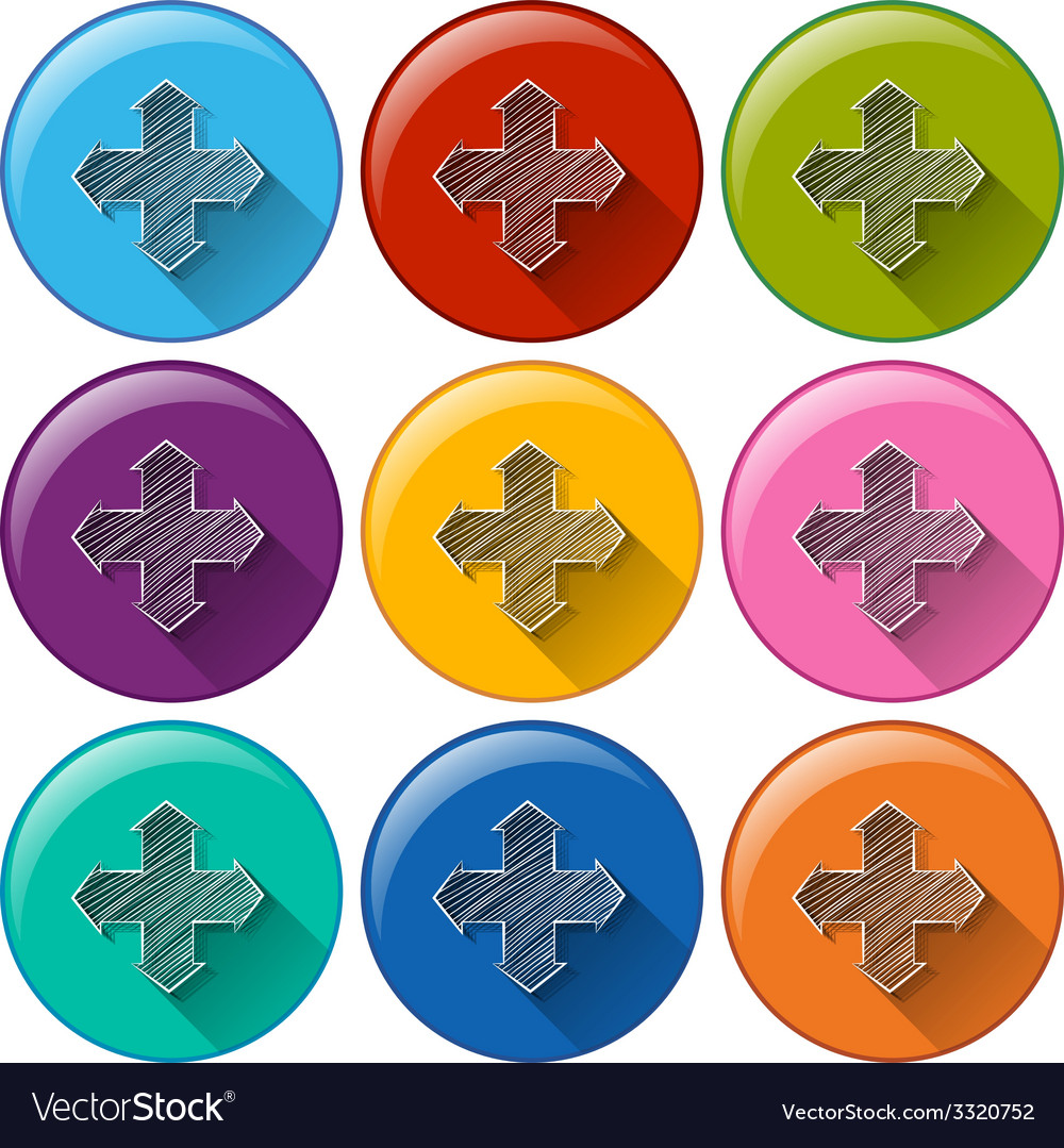 Round icons with arrows vector   Price: 1 Credit (USD $1)