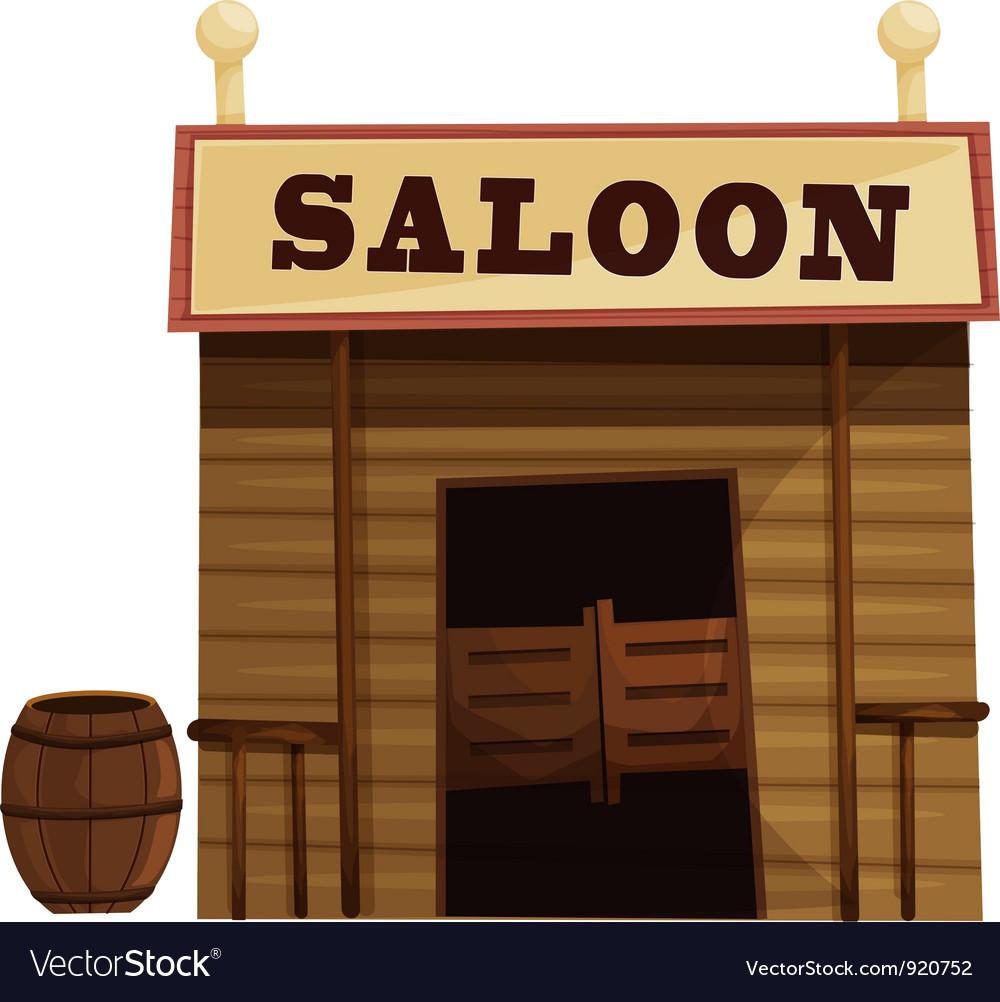 Saloon vector