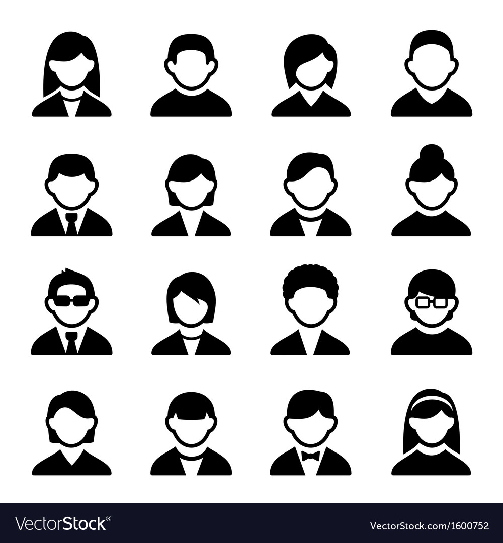 User icons set 2 vector | Price: 1 Credit (USD $1)