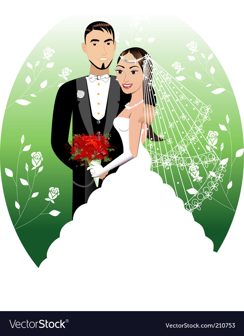 Bride groom vector | Price: 3 Credit (USD $3)