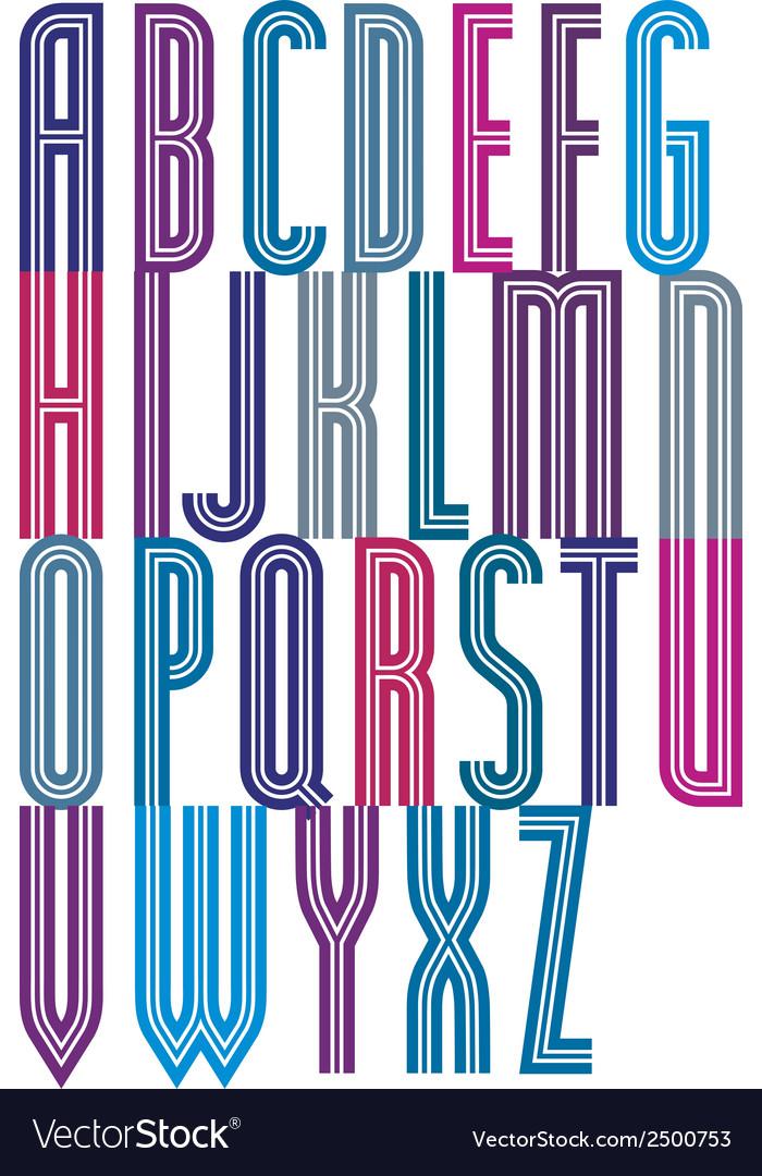 Bright geometric expressive triple font drop caps vector | Price: 1 Credit (USD $1)