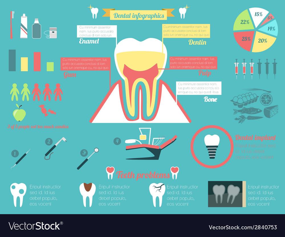Dental infographic set vector | Price: 1 Credit (USD $1)