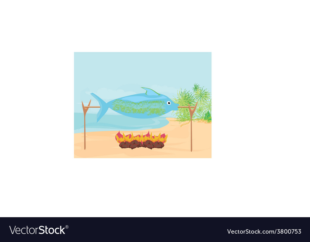 Fish in the spit vector | Price: 1 Credit (USD $1)