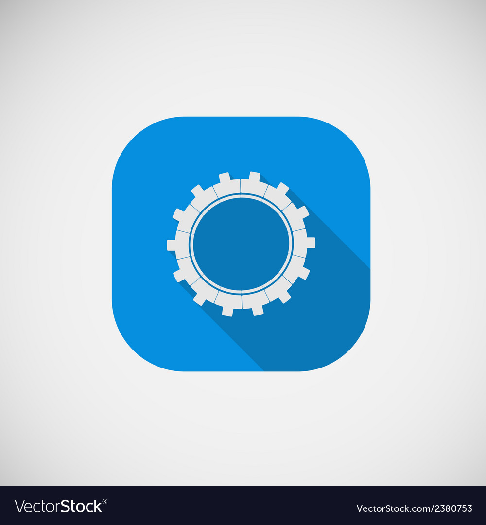 Gear flat icon eps vector | Price: 1 Credit (USD $1)