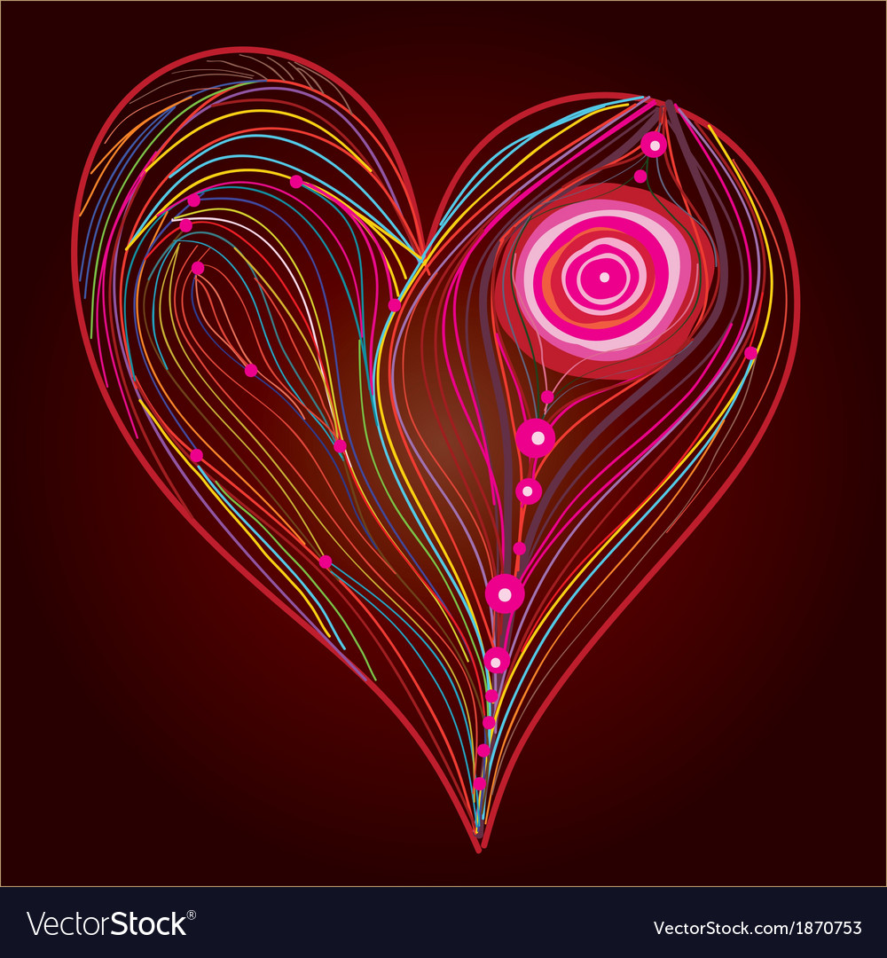 Heart line work vector | Price: 1 Credit (USD $1)