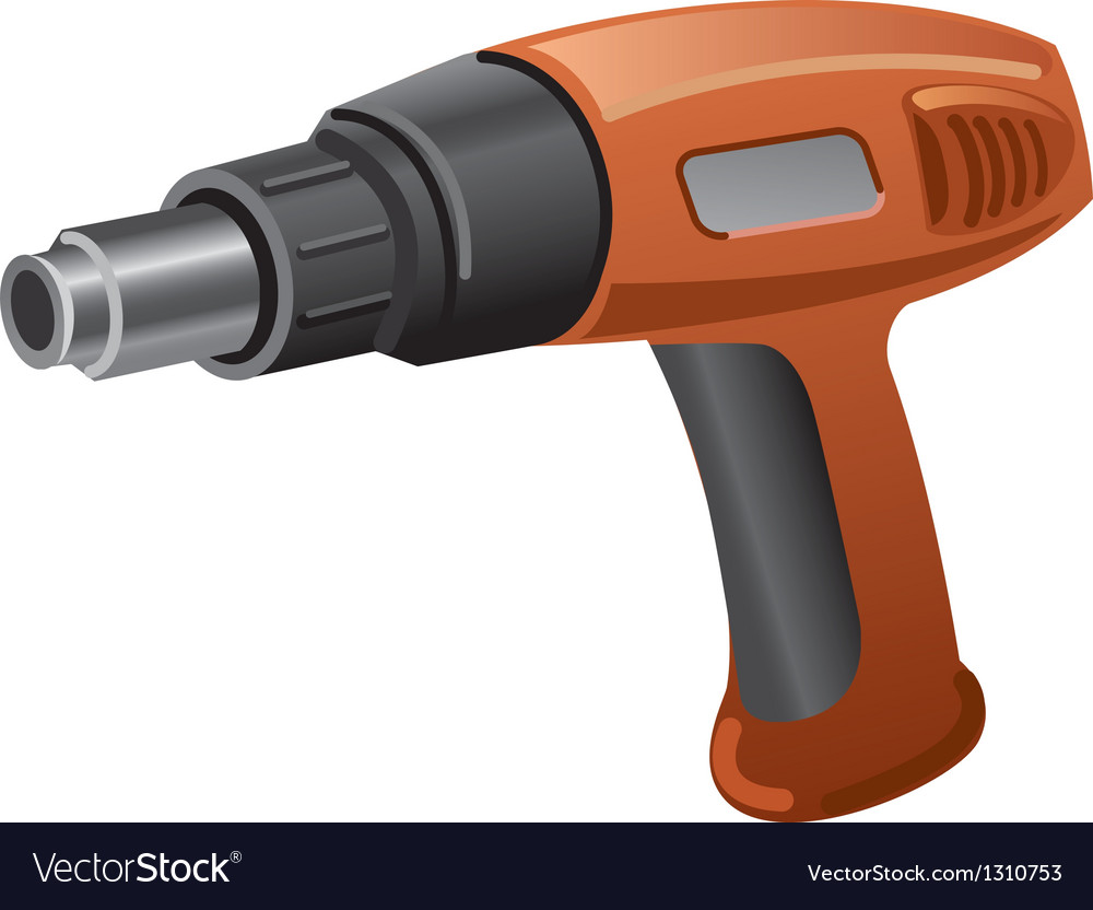 Heat gun vector | Price: 3 Credit (USD $3)