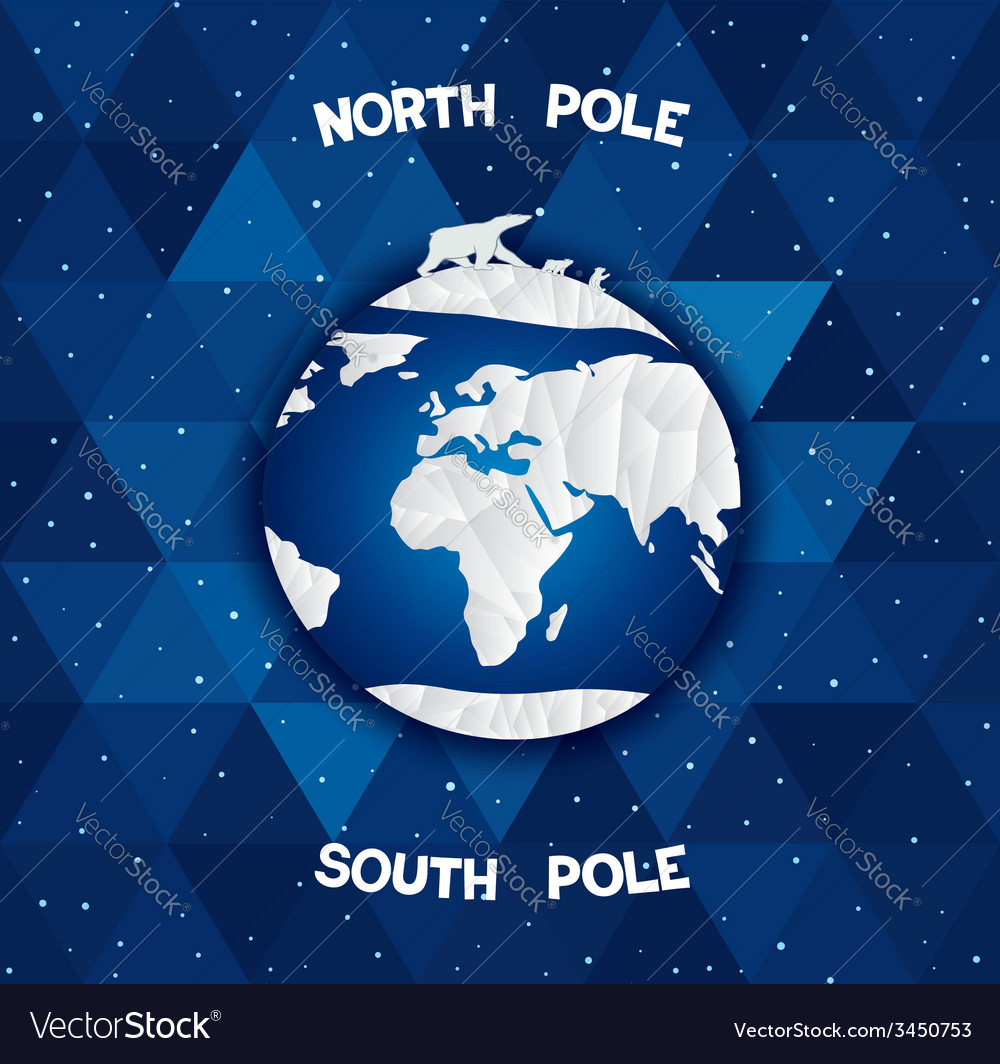 North and south poles vector | Price: 1 Credit (USD $1)