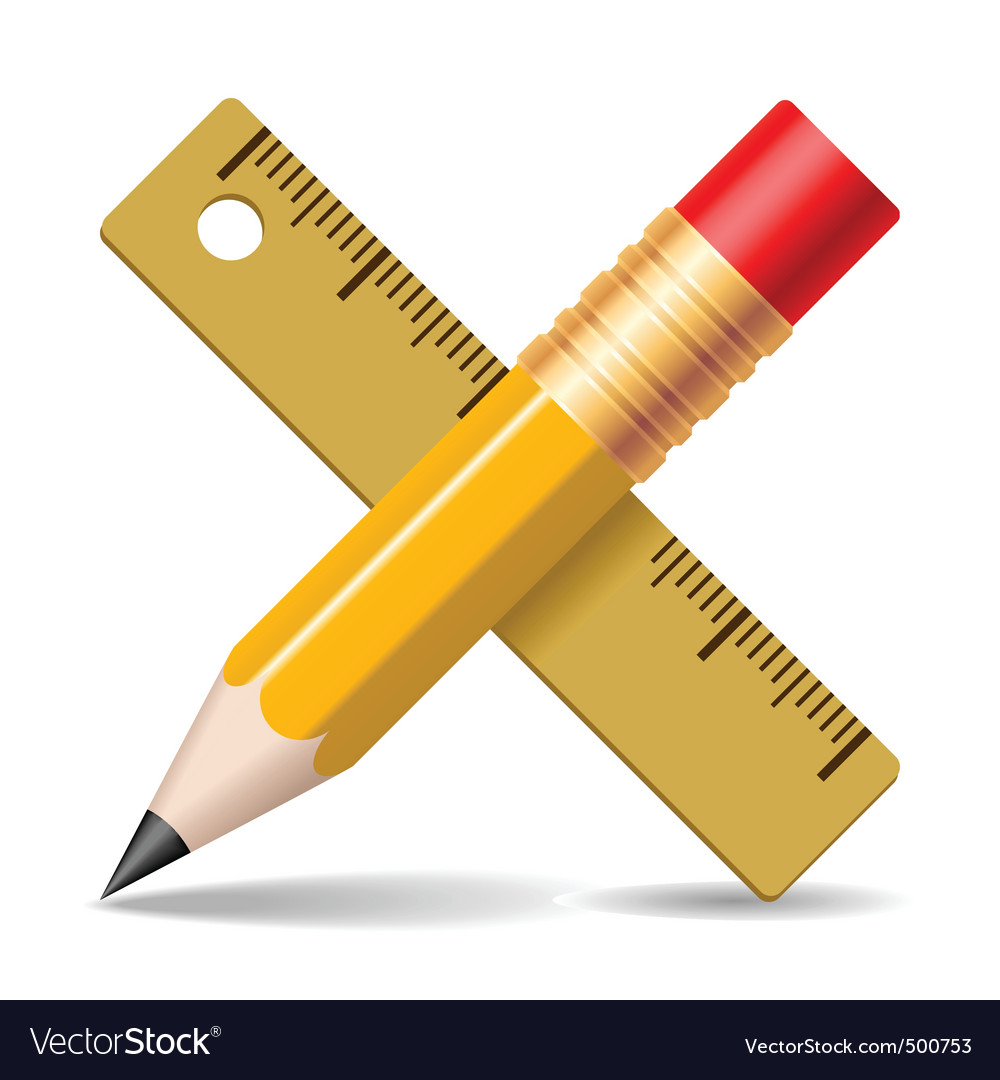 Pencil ruler vector | Price: 1 Credit (USD $1)