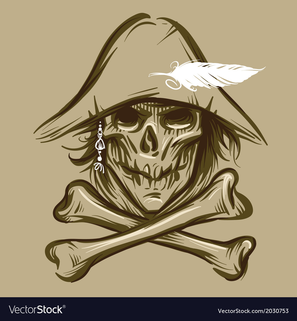 Skull of the pirate vector | Price: 1 Credit (USD $1)