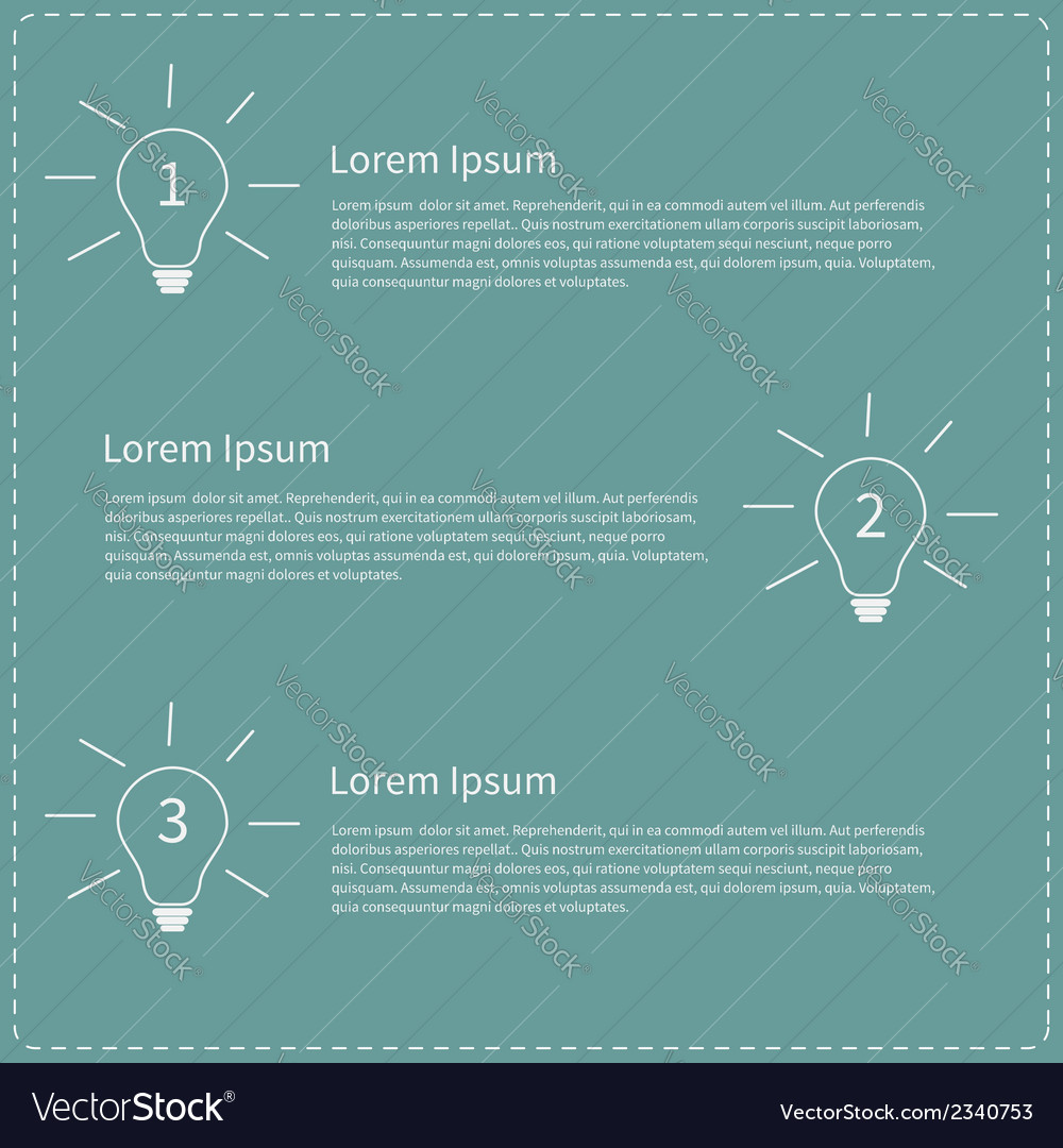 Three step business infographic with white light vector | Price: 1 Credit (USD $1)