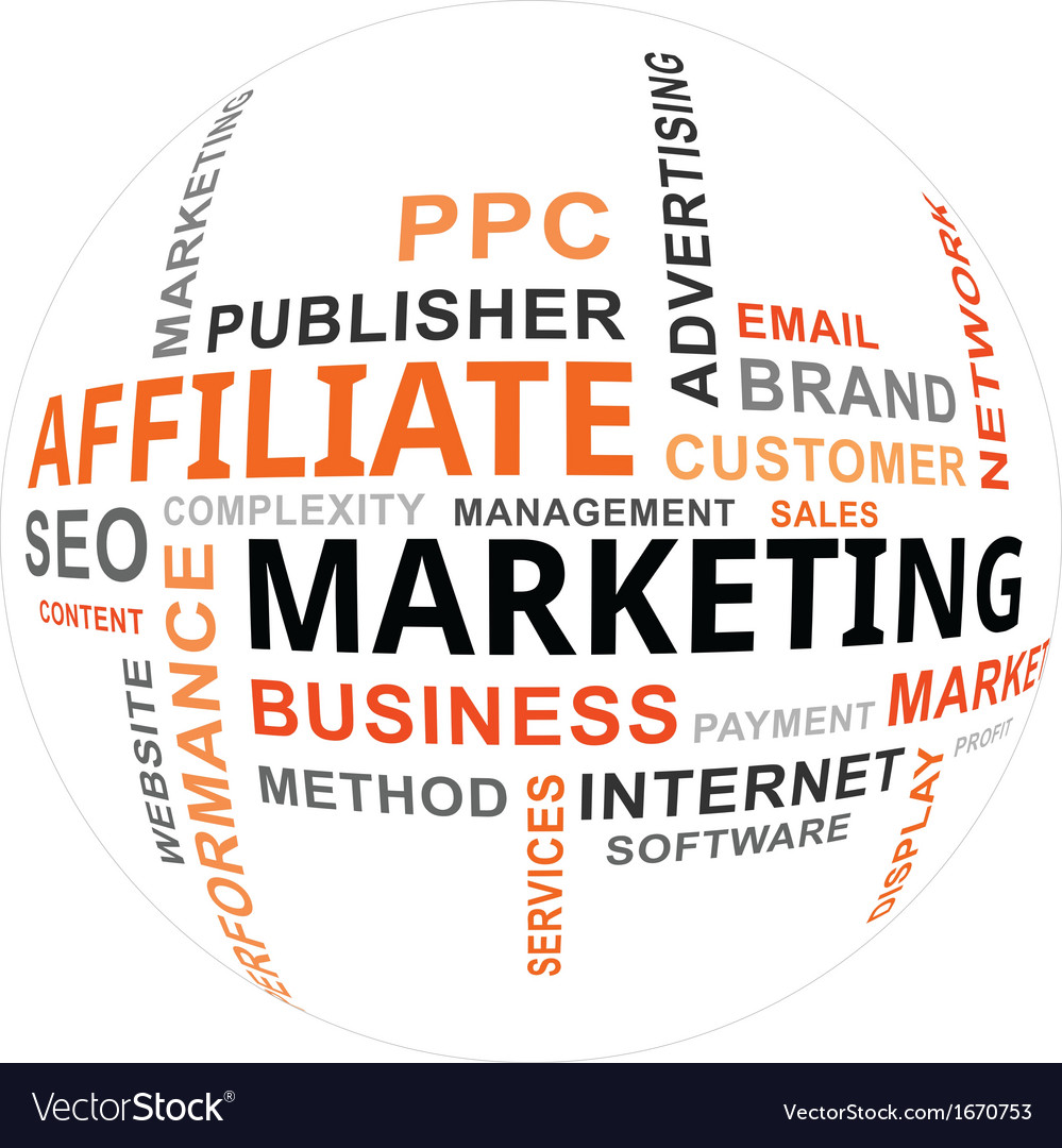 Word cloud affiliate marketing vector | Price: 1 Credit (USD $1)