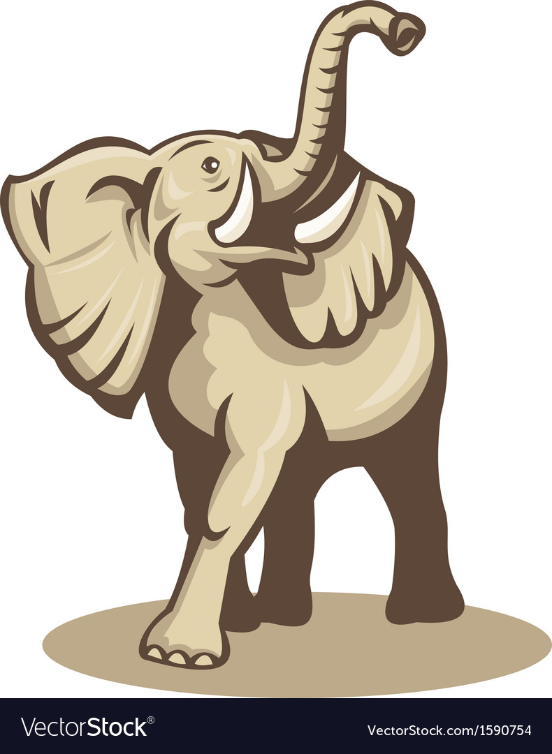 African bull elephant charging attacking vector | Price: 1 Credit (USD $1)
