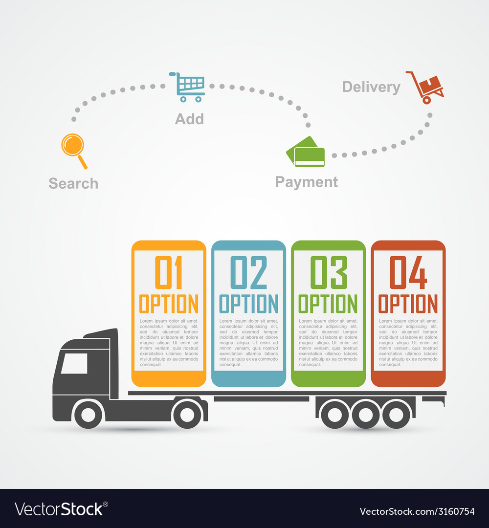E commerce infographic 3 vector | Price: 1 Credit (USD $1)