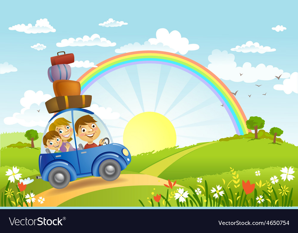 Family summer adventure vector | Price: 3 Credit (USD $3)