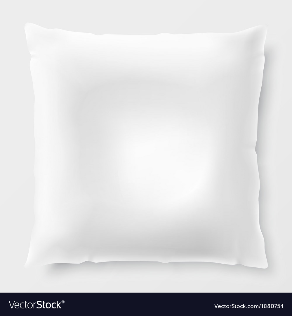 Isolated white pillow with shadow vector | Price: 1 Credit (USD $1)