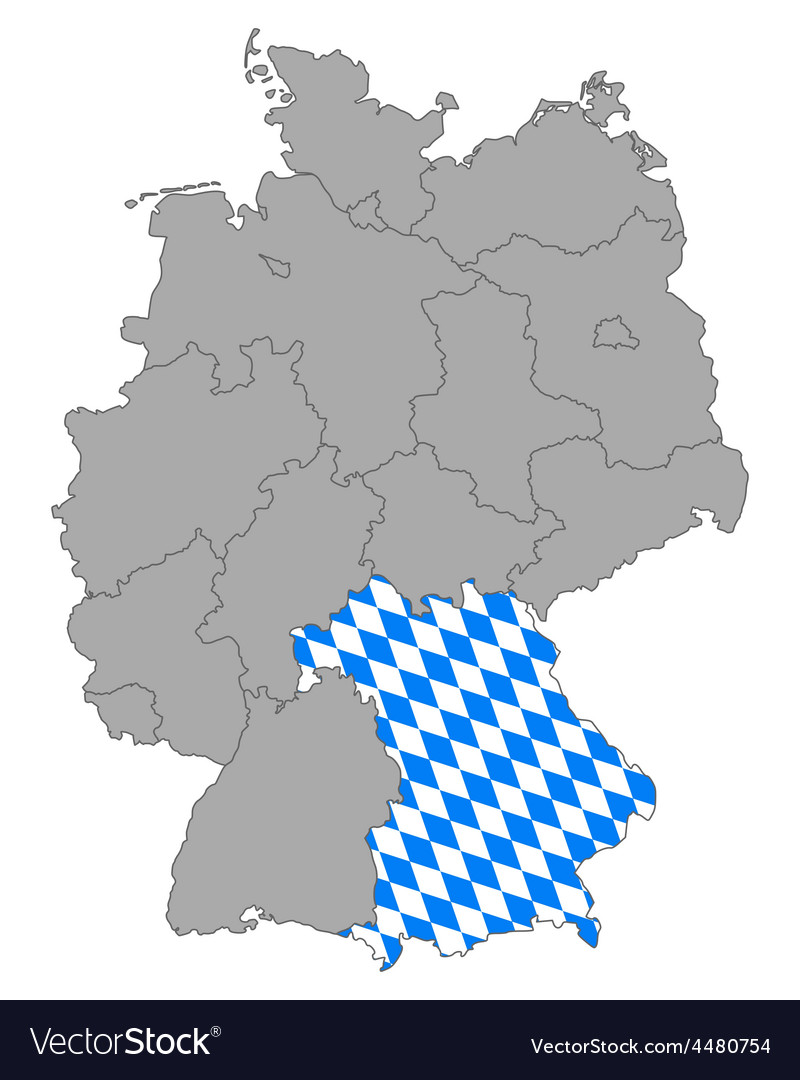 Map of germany with flag of bavaria vector   Price: 1 Credit (USD $1)