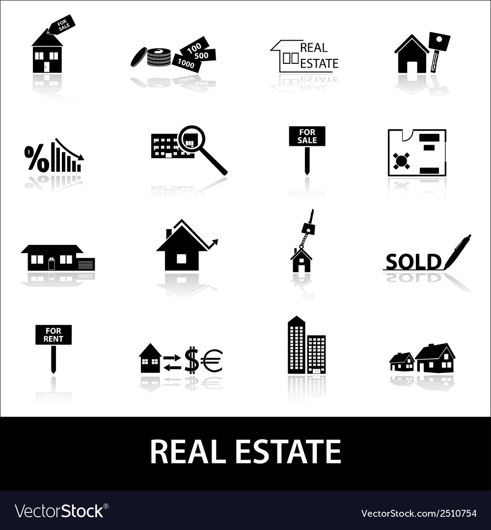 Real estate icons eps10 vector | Price: 1 Credit (USD $1)