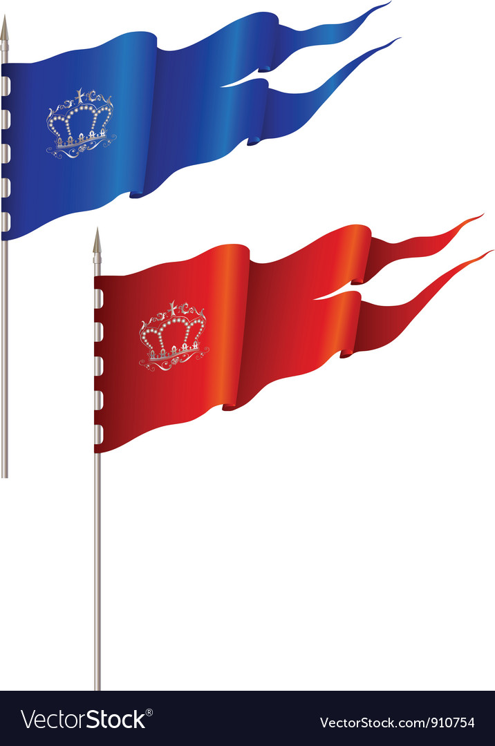 Red and blue flags vector | Price: 1 Credit (USD $1)