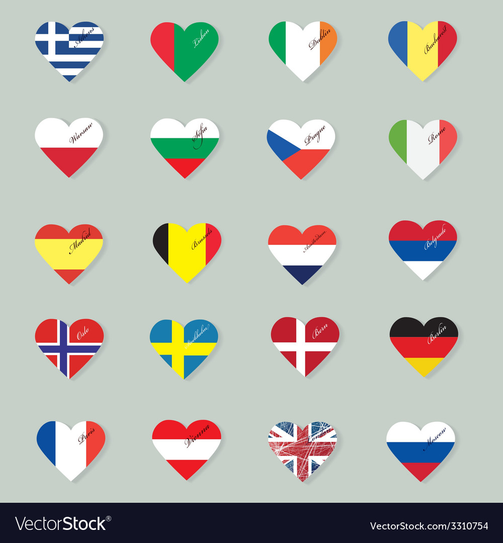 Set of original flags of the countries of europe vector | Price: 1 Credit (USD $1)