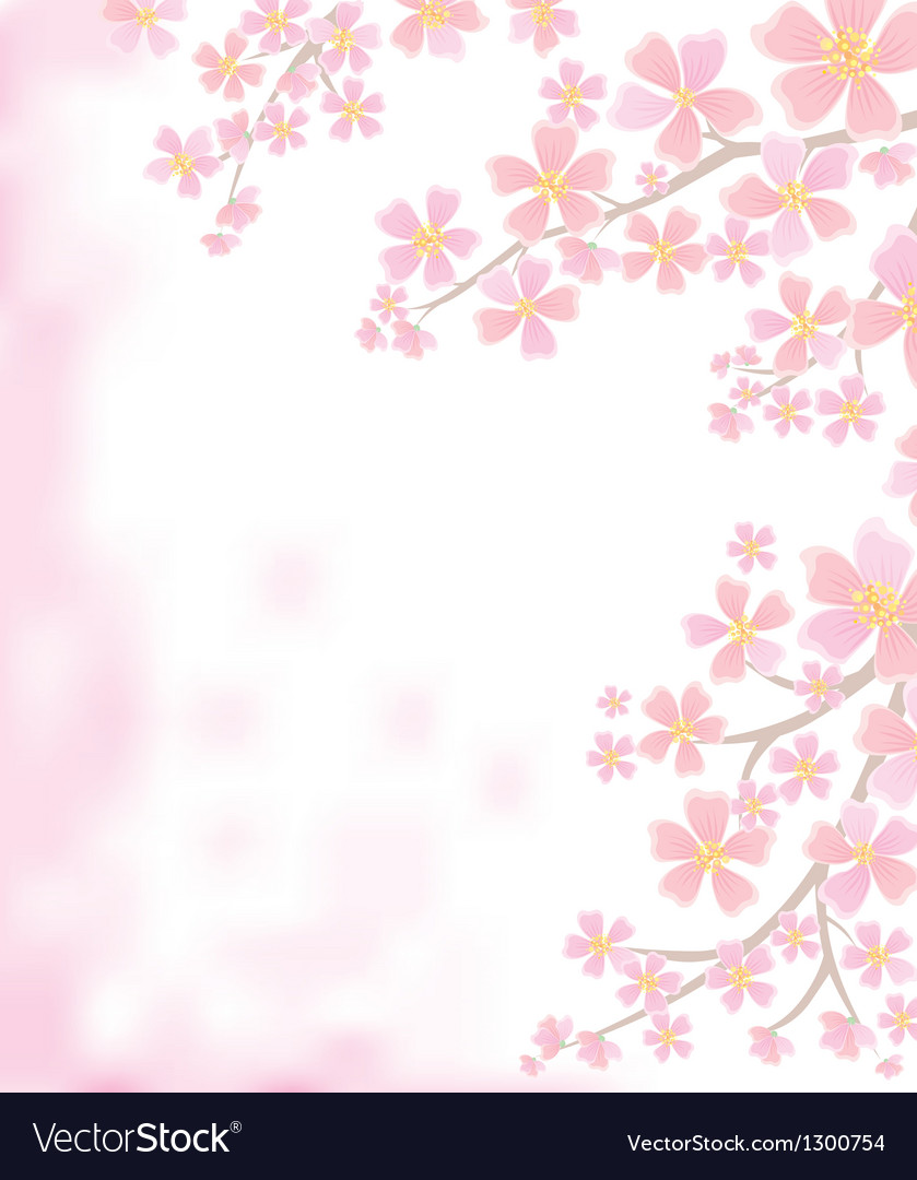 Spring background with flowering branches vector