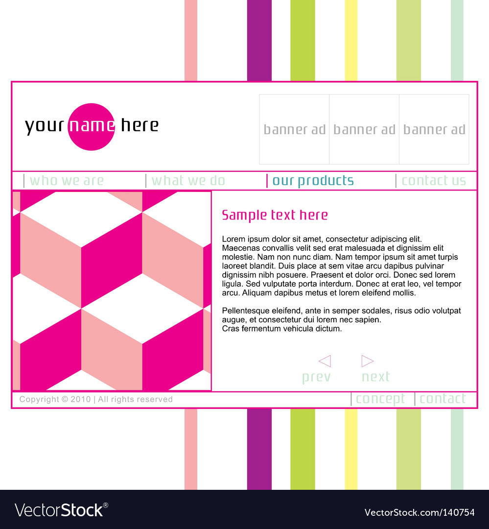 Template web site vector | Price: 1 Credit (USD $1)