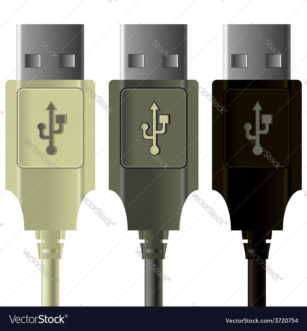 Usb cables vector | Price: 1 Credit (USD $1)