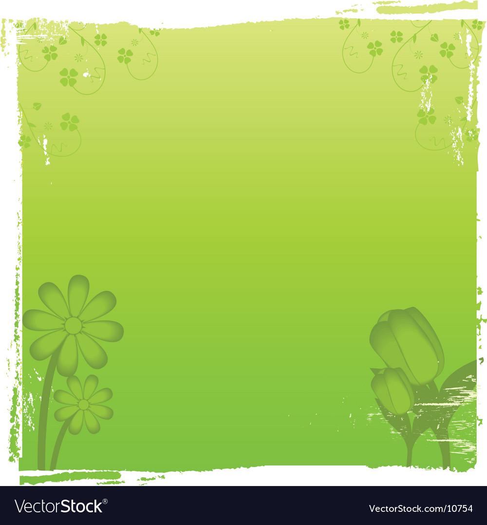 Vintage green floral background vector | Price: 1 Credit (USD $1)