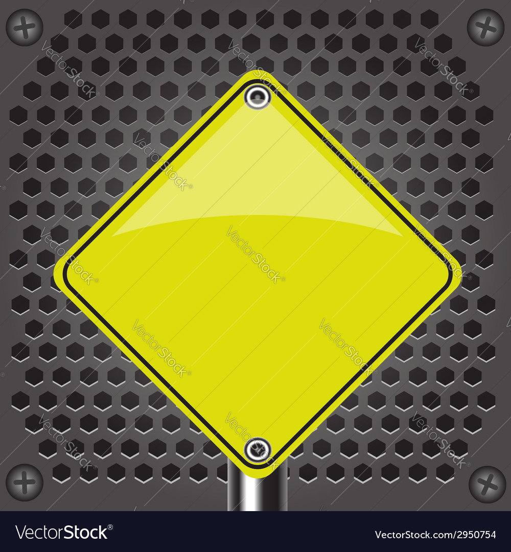 Yellow sign vector | Price: 1 Credit (USD $1)