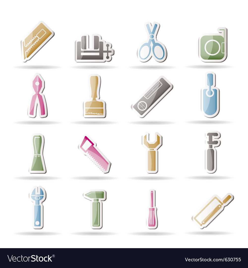 Building tool icons vector | Price: 1 Credit (USD $1)