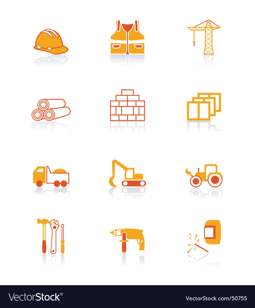 Construction icons  juicy series vector | Price: 1 Credit (USD $1)