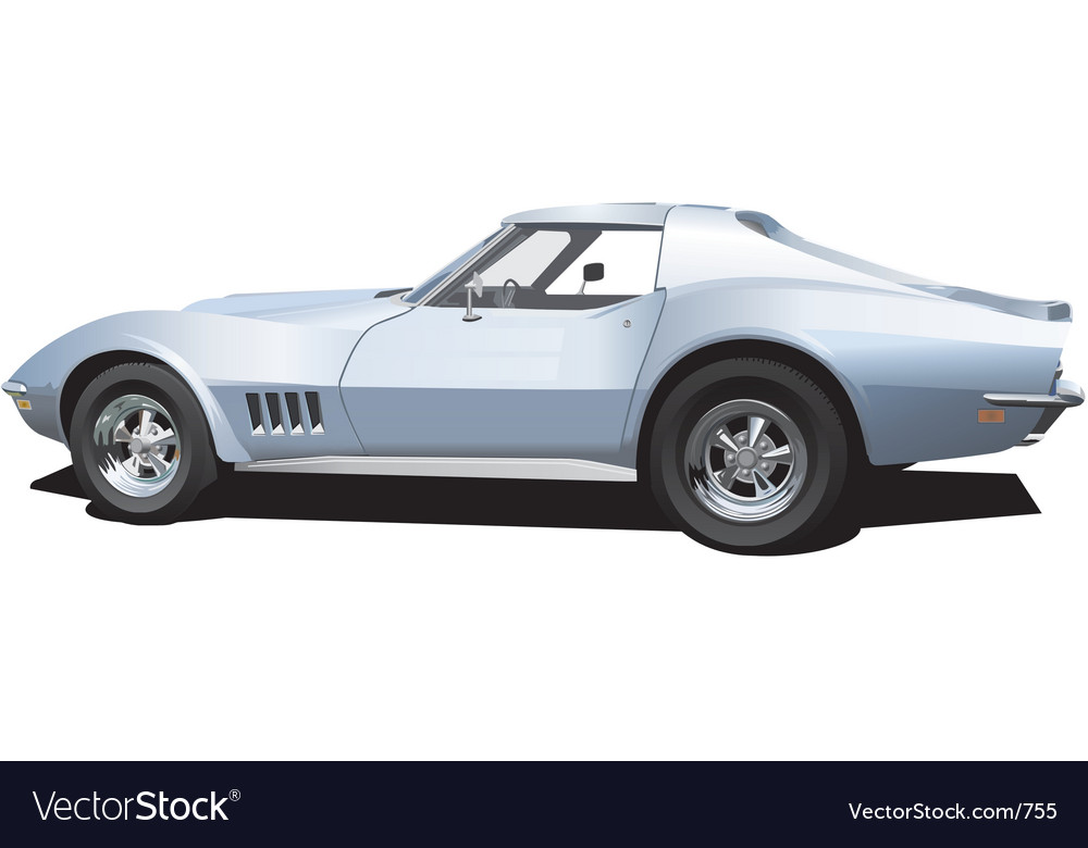 Corvette vector | Price: 5 Credit (USD $5)