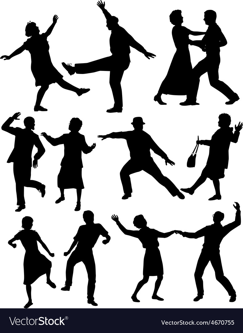 Elderly people dancing vector | Price: 1 Credit (USD $1)