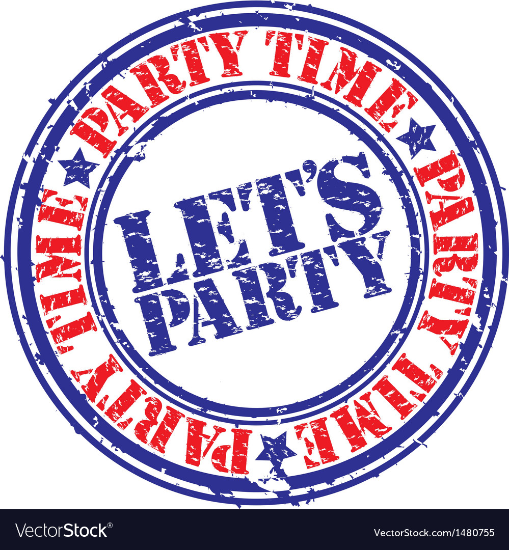 Lets party stamp vector | Price: 1 Credit (USD $1)