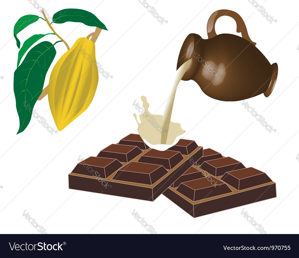 Milk chocolate vector | Price: 1 Credit (USD $1)