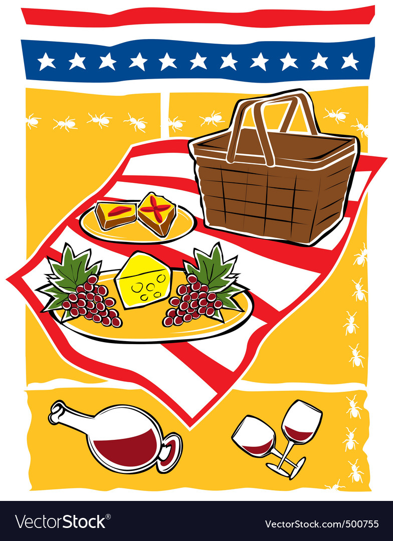 Picnic scene vector | Price: 1 Credit (USD $1)