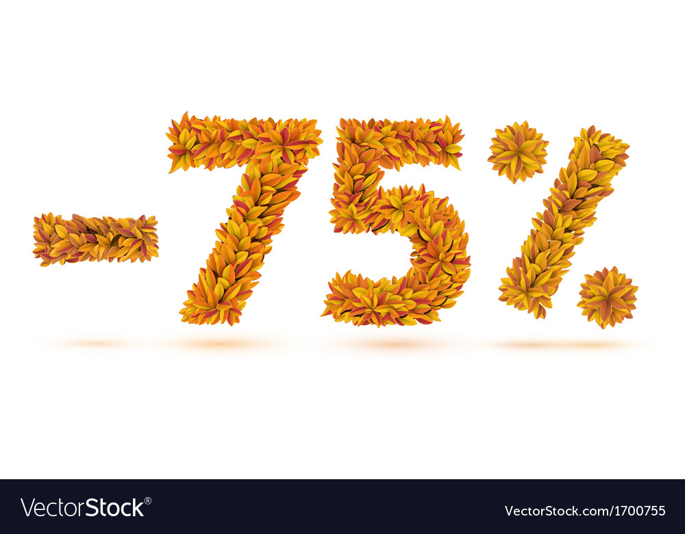 Sale number of autumn fall bright orange leaves vector | Price: 1 Credit (USD $1)