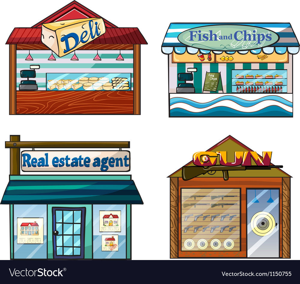 Shops set vector | Price: 1 Credit (USD $1)