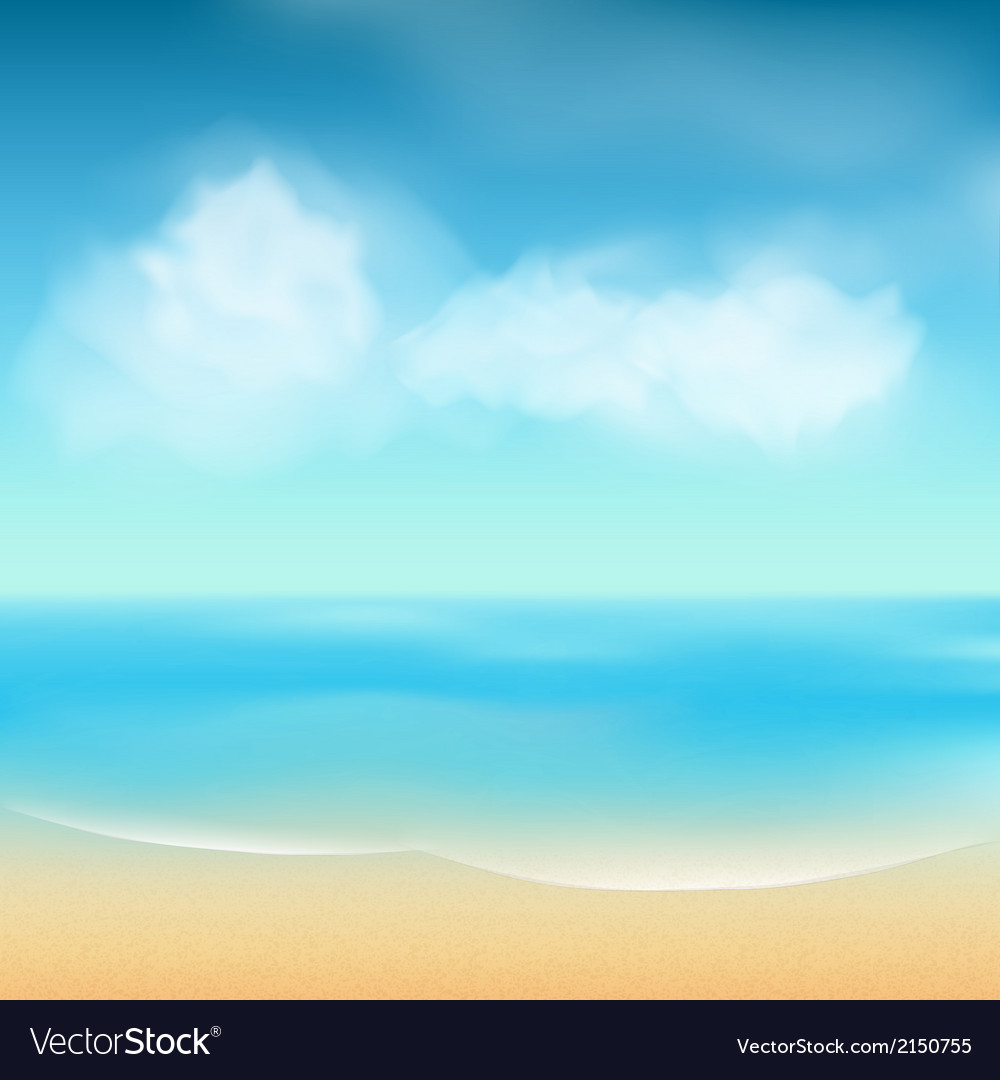 Summer sea and sand background vector | Price: 1 Credit (USD $1)