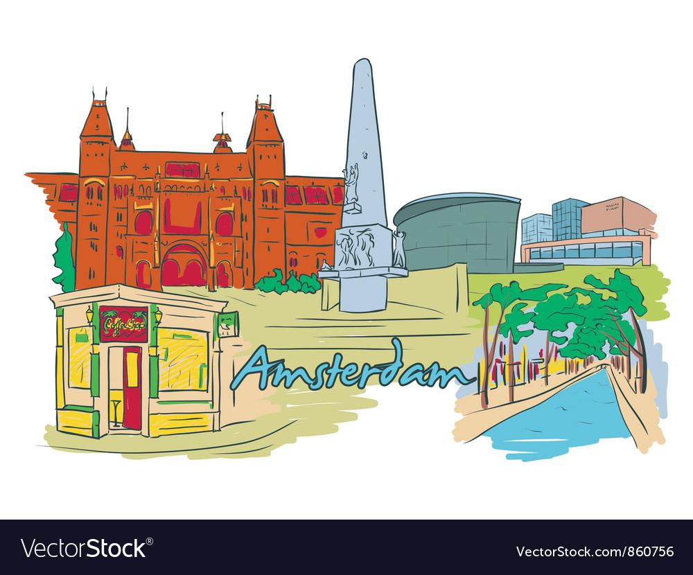 Amsterdam doodles vector   Price: 3 Credit (USD $3)