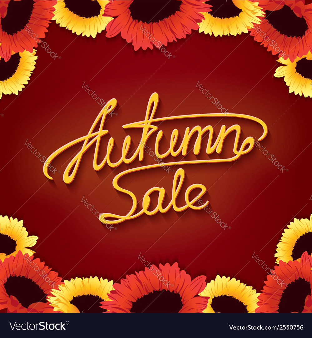 Autumn sale banner vector | Price: 1 Credit (USD $1)