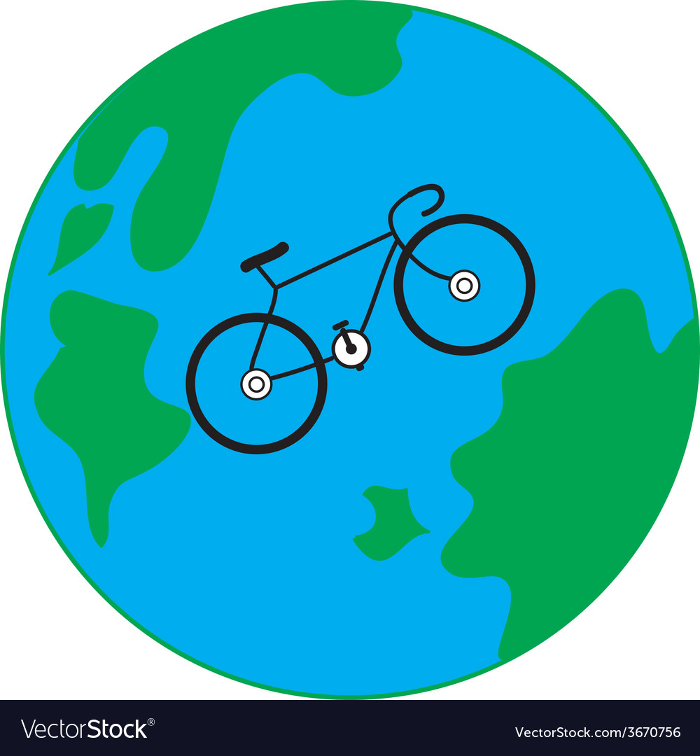 Bicycle earth vector | Price: 1 Credit (USD $1)